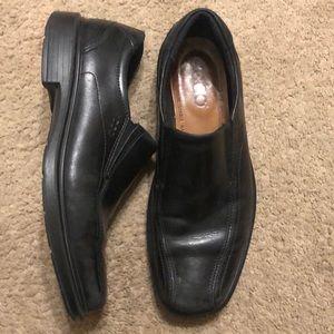 Ecco men's black loafers slip on shoes 11 42